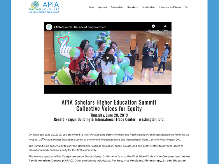 APIA Scholars Higher Education Summit