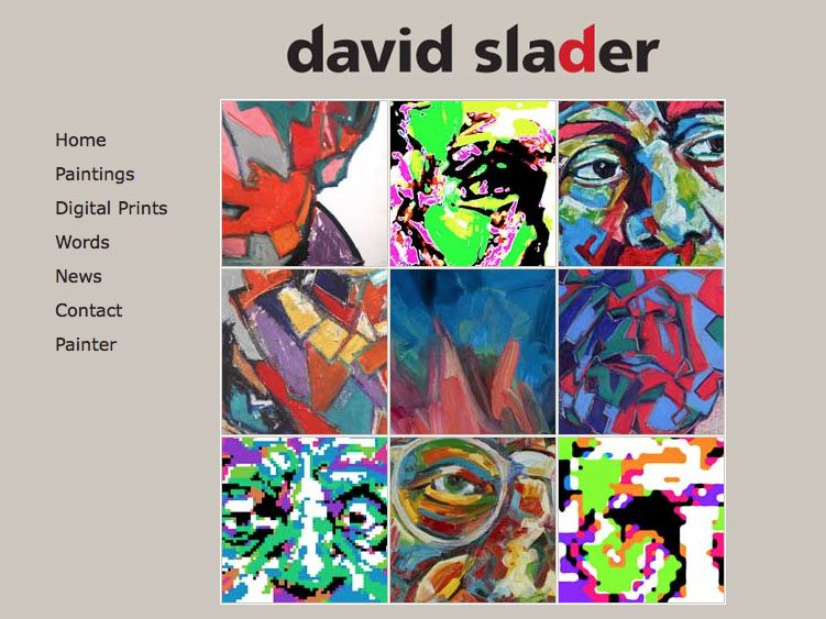 Website screenshot for David Slader