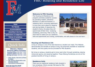 Francis Marion University Housing & Residence Life
